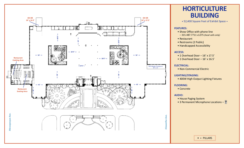 Horticulture Building Floor Plan